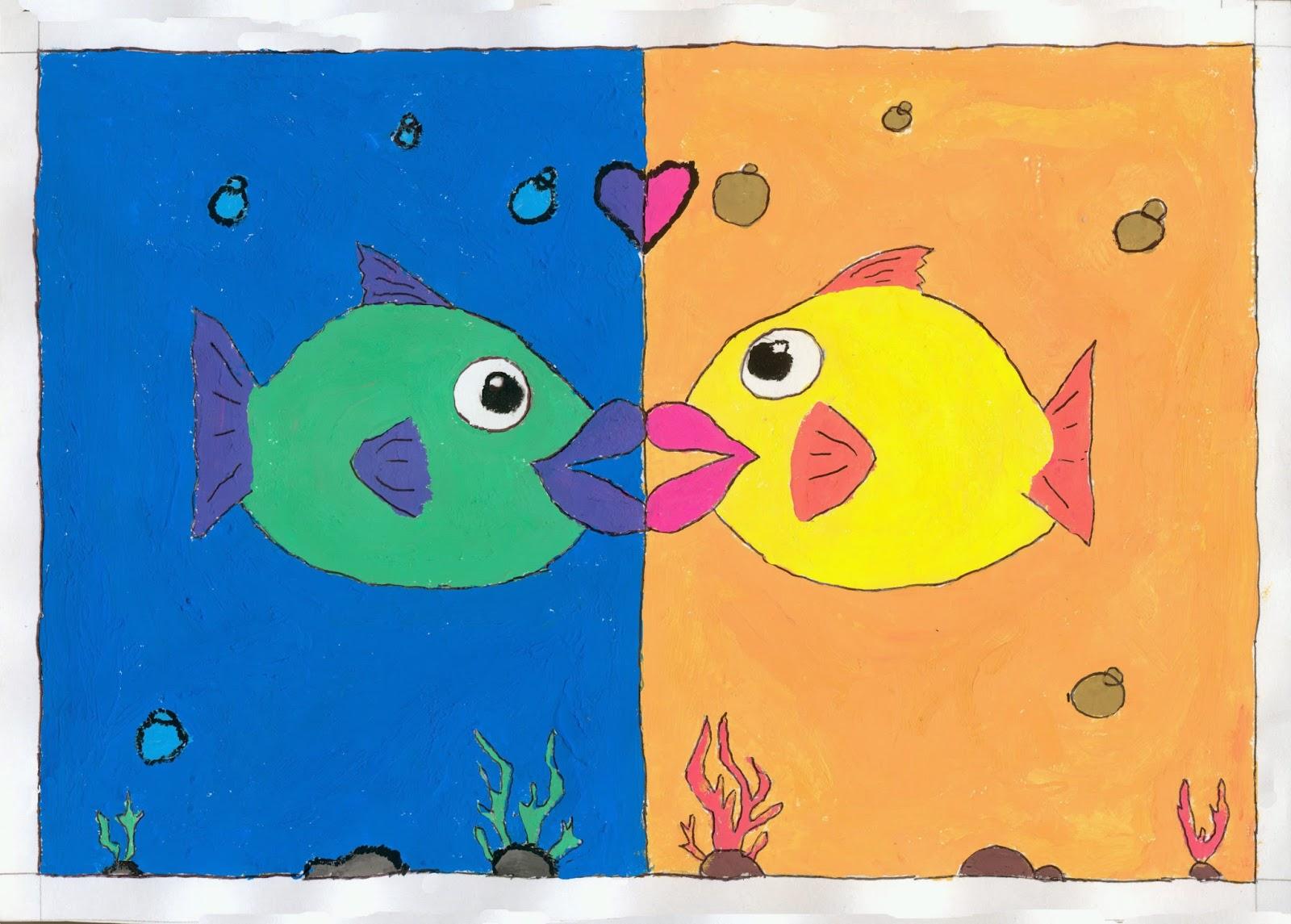 Dibujos educaci n pl stica y visual 1 evaluaci n dibujo - Paisaje con colores calidos ...