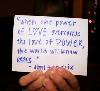 Jimi Hendrix Quote on Love