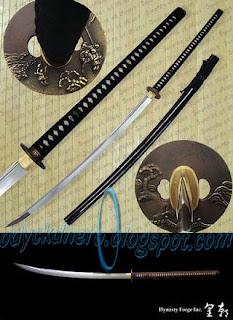 Nagamaki Pedang Samurai Jepang