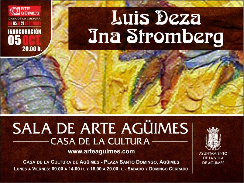 Exposición de Luis Deza e Ina Strömberg en la Sala de Arte Agüimes