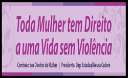 Viver sem violência é um direito das Mulheres.