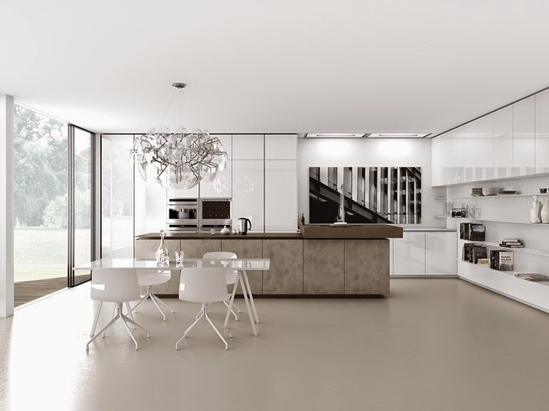 minimalist home design decor, minimalist kitchen and dining sets in white