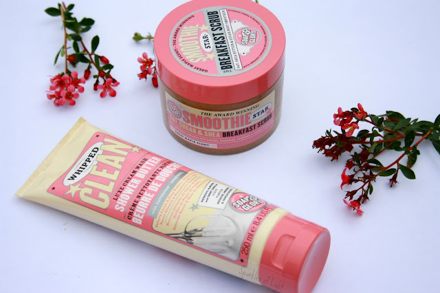 Smoothie Star Breakfast Scrub and Whipped Clean Soap and Glory Review