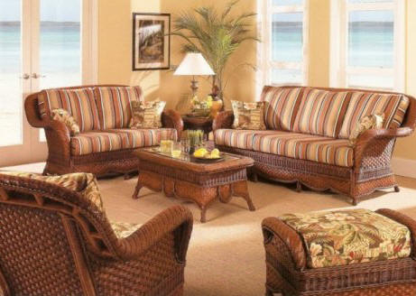 Simply home ideas wicker and rattan furniture for Rattan living room furniture