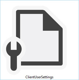 client user settings config file icon logo