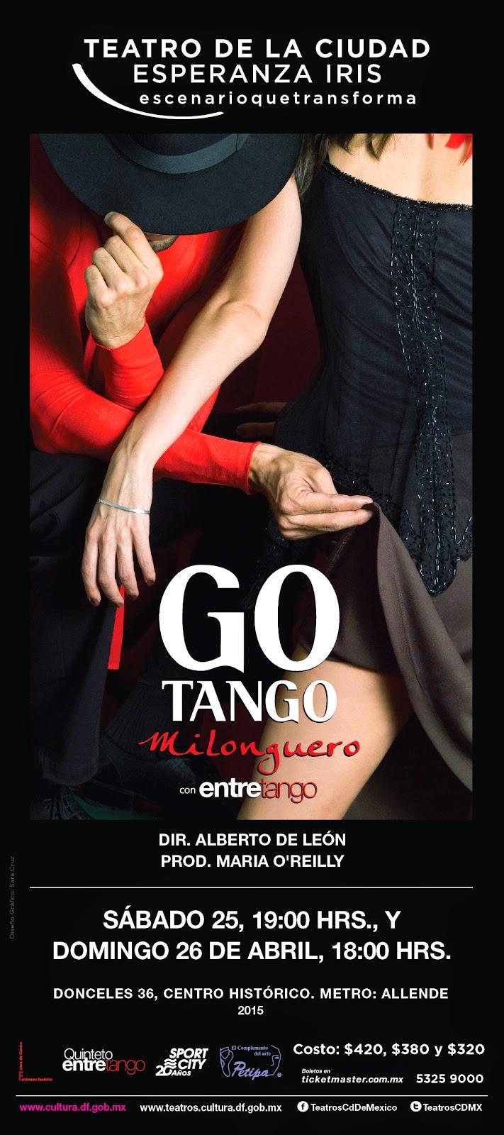 """El tango llega al Teatro de la Ciudad con """"Gotango milonguero"""" de Alberto de León"""