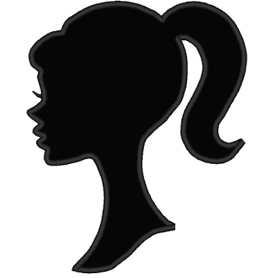 Clever image with free printable barbie silhouette