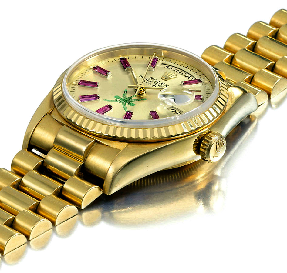 Wrist watch price in oman - Next Up We See Another Yellow Gold Rolex Day Date Made For The Sultan Of Oman And This One Was Made In 1979 And It Sold Also Had An Estimate Selling Price