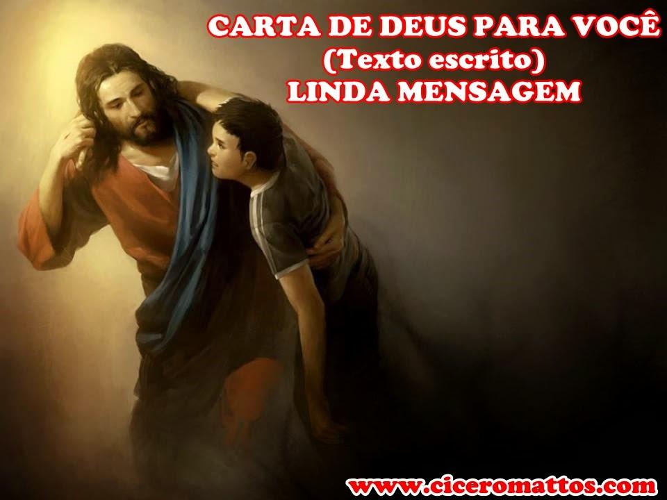 CARTA DE DEUS PARA VOCÊ (Texto escrito)