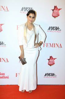 Kajol Pictures in White Long Dress at The Femina Beauty Awards 2015 ~ Celebs Next