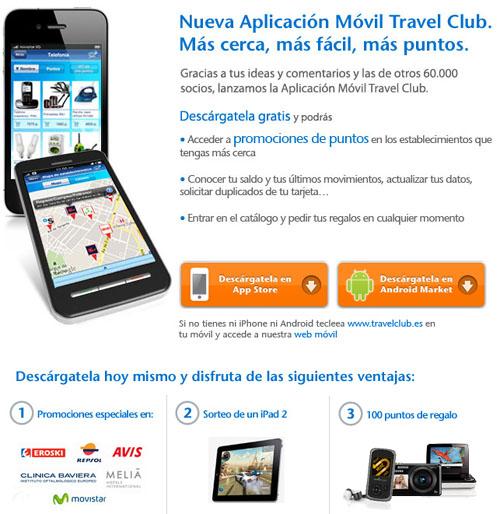 Aplicaci n m vil de travelclub travel club todo sobre for Catalogo puntos bp
