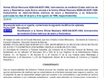 NORMA: NOM-046-SCFI-1999