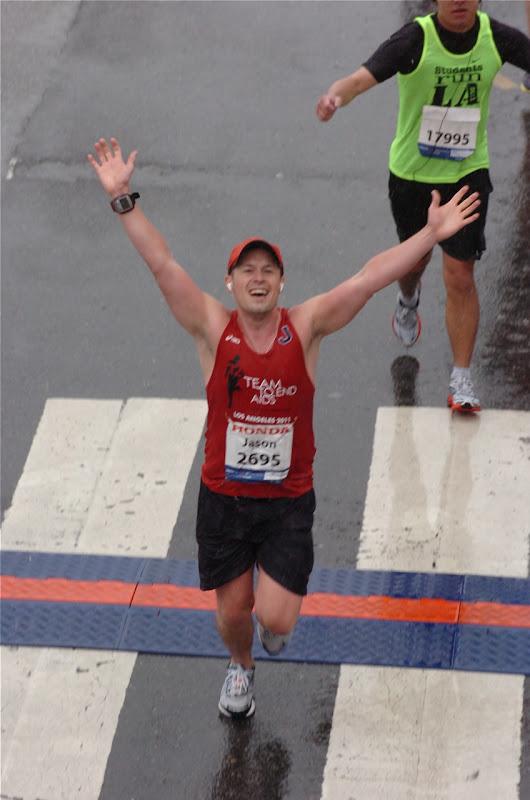 Jason LA Marathon finish 2011