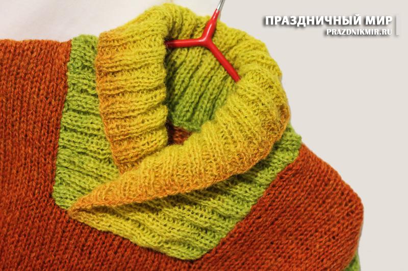 хендмейд, теплая детская вязаная одежда