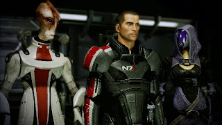 Mordin Solus (salarian scientist, ex Special Tasks Group, modified the Krogan genophage) and Tali'Zorah nar Rayya (mechanical genius and cutie, like Kaylee Frye from Joss Whedon's Firefly and Serenity)