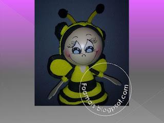 fofucha-abeja, fofucha, fofuchas, foami, goma eva, regalos personalizados