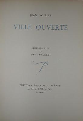 Lithographies de Paul Valéry