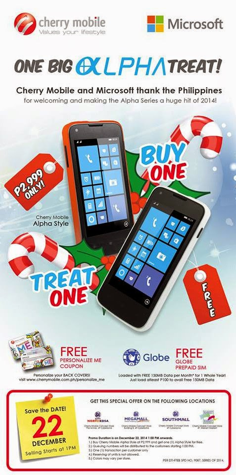 Cherry Mobile Alpha Style Buy One Take One