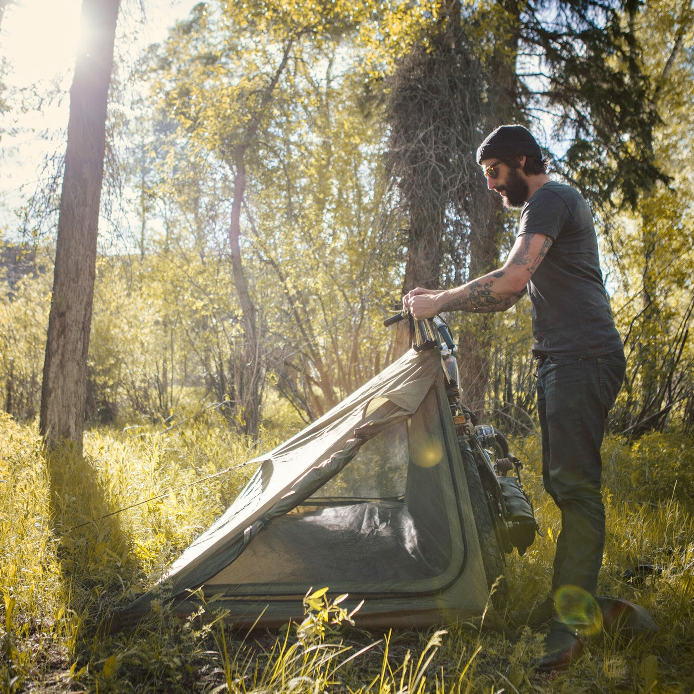 Moto-Mucci: GIVE-A-WAY: Abel Brown's Nomad Motorcycle Tent