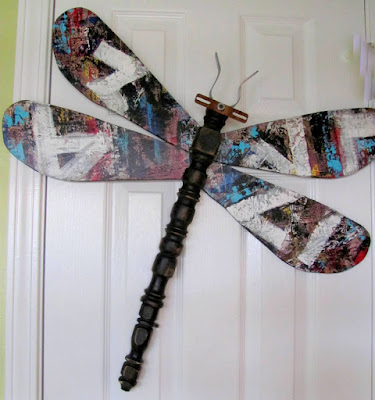 graffiti sign industrial look dragonfly art