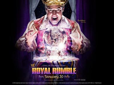 poster oficial del ppv royal rumble con santino marella