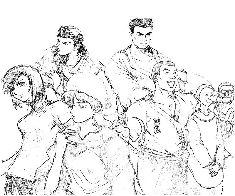 printable-shenmue-dojo-characters-coloring-pages