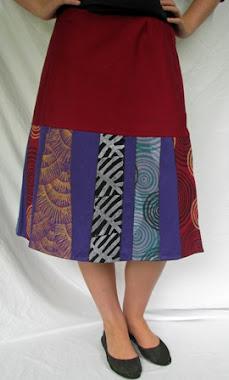 wrap skirt - stripes