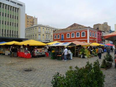 Feira no centro de Florianopolis