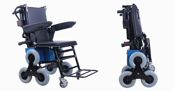 Electric stair climbing wheelchair vs wheelchair lift for Motorized stair chair lift