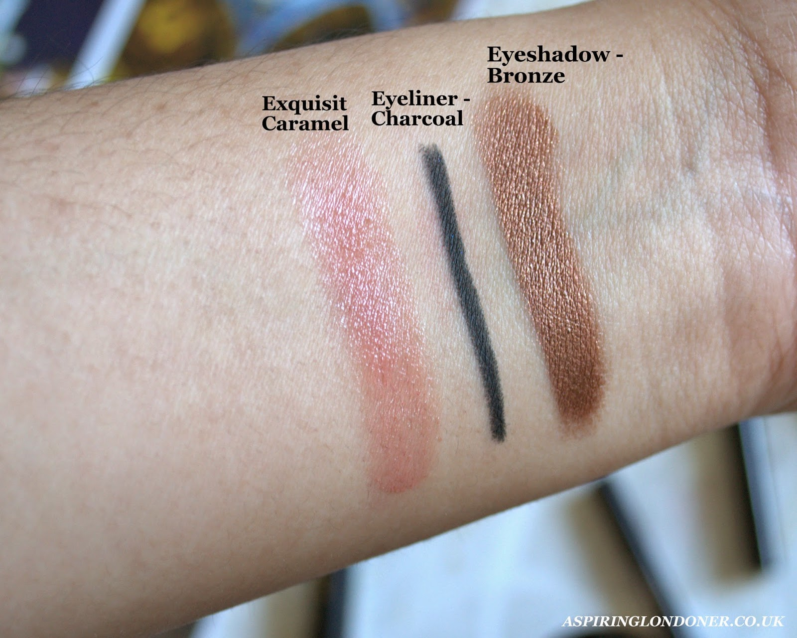 Max Factor Excess Shimmer Eyeshadow Eyeliner Swatch Colour Balm Swatch - Aspiring Londoner