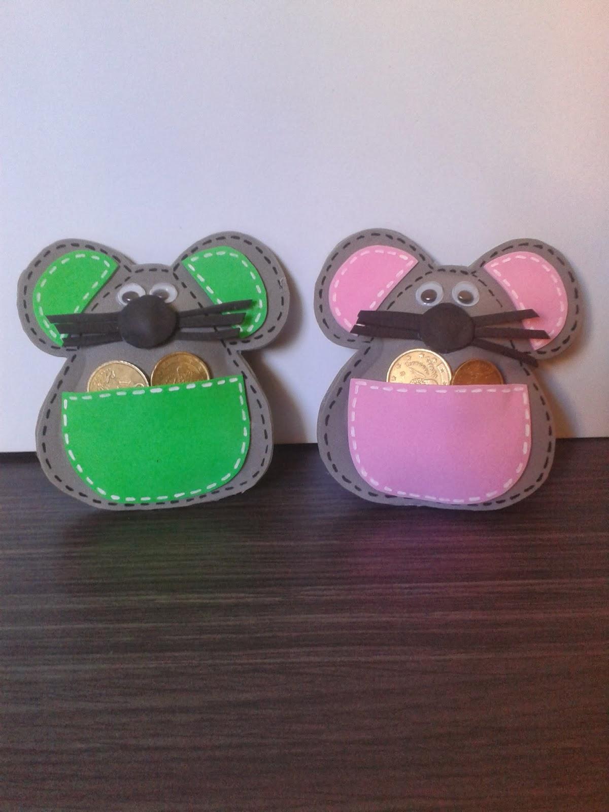 Detallitos en Foami: Ratón y Diente con bolsillo portadientes
