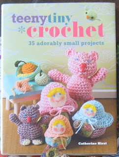 "Front cover of book ""Teeny Tiny Crochet"" by Catherine Hirst."