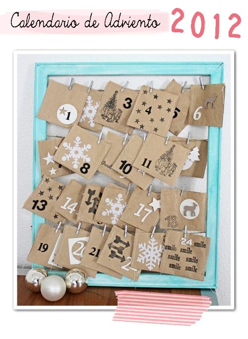 Diy navidad el calendario de adviento de celine - Calendario de adviento diy ...