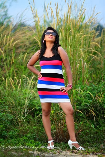 Thilini Handunge latest short dress