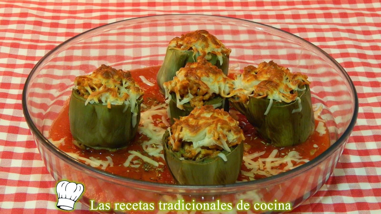 Alcachofas al horno rellenas