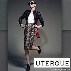 Queen Letizia Style UTERQUE Snake Skirt