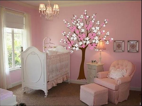 Dormitorios de beb s decorados con rboles ideas para - Como decorar habitaciones ...