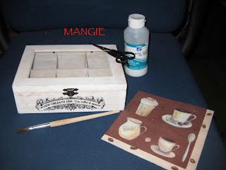 Materiales caja madera infusiones