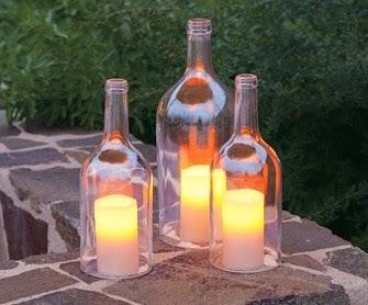 Kerajinan Tangan Dari Botol Bekas - Lilin Hias