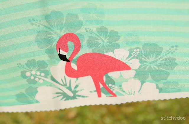 Flamingo Breeze - Mein selbst entworfener Stoff - Tropical Feeling