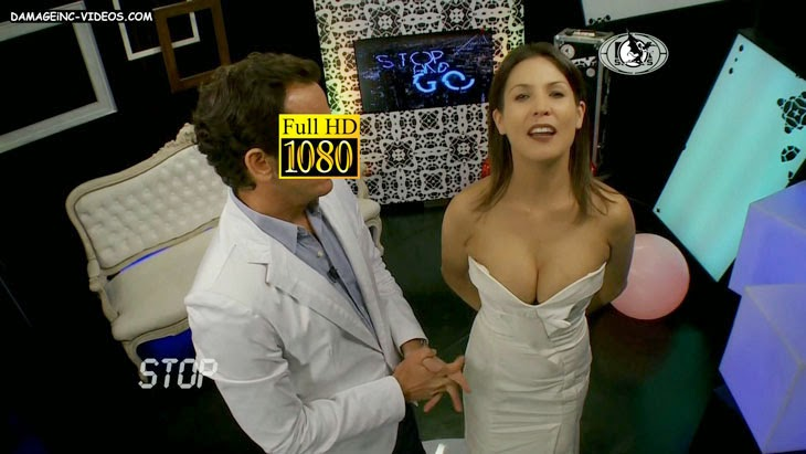 Argentina Celebrity Ursula Vargues busty cleavage full HD video