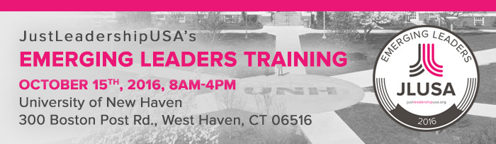 Event: JustLeadershipUSA Emerging Leaders Training, Sat., Oct. 15, 2016, 8 am to 4 pm