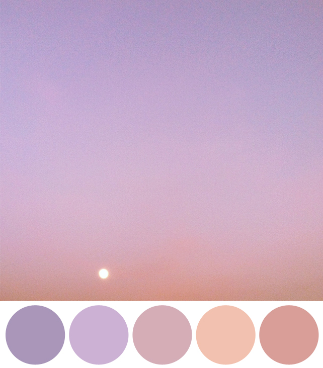 Color Schemes Inspired by Instagram Photos of the Sky