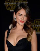 Eiza Gonzalez sexy cleavage at Star Wars: The Force Awakens Premiere dresses photos