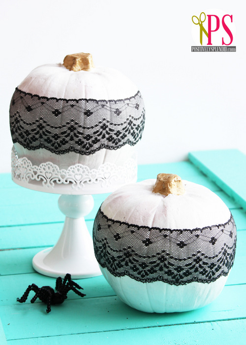 Decoupaged Lace Pumpkins Positively Splendid Crafts Sewing Recipes And Home Decor
