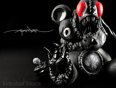 Kidrobot Black DigesTED Vinyl Figure by Alex Pardee