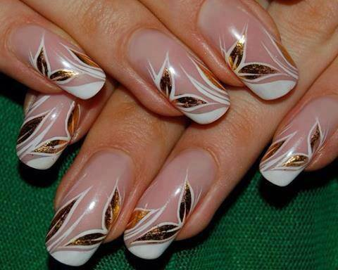 Flower style for soft nail hands