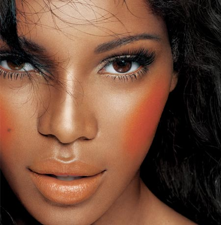 with skin s for cheek good  dark an intense makeup skin   the natural dark on orange blush color skin