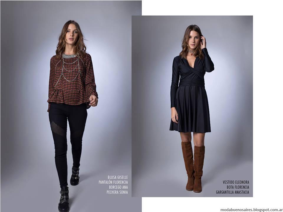 La Cofradía otoño invierno 2016. Moda invierno 2016 vestidos, pantalones, blusas.