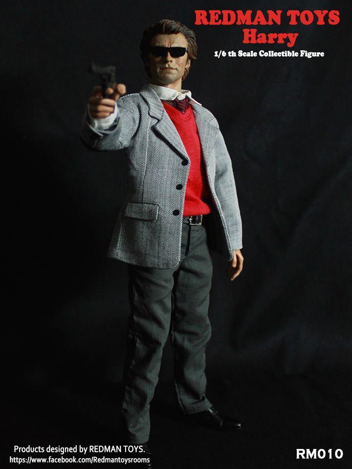 Head Sculpt w//Glasses in Clint Eastwood Likeness 1//6 Scale Toy Inspector Harry